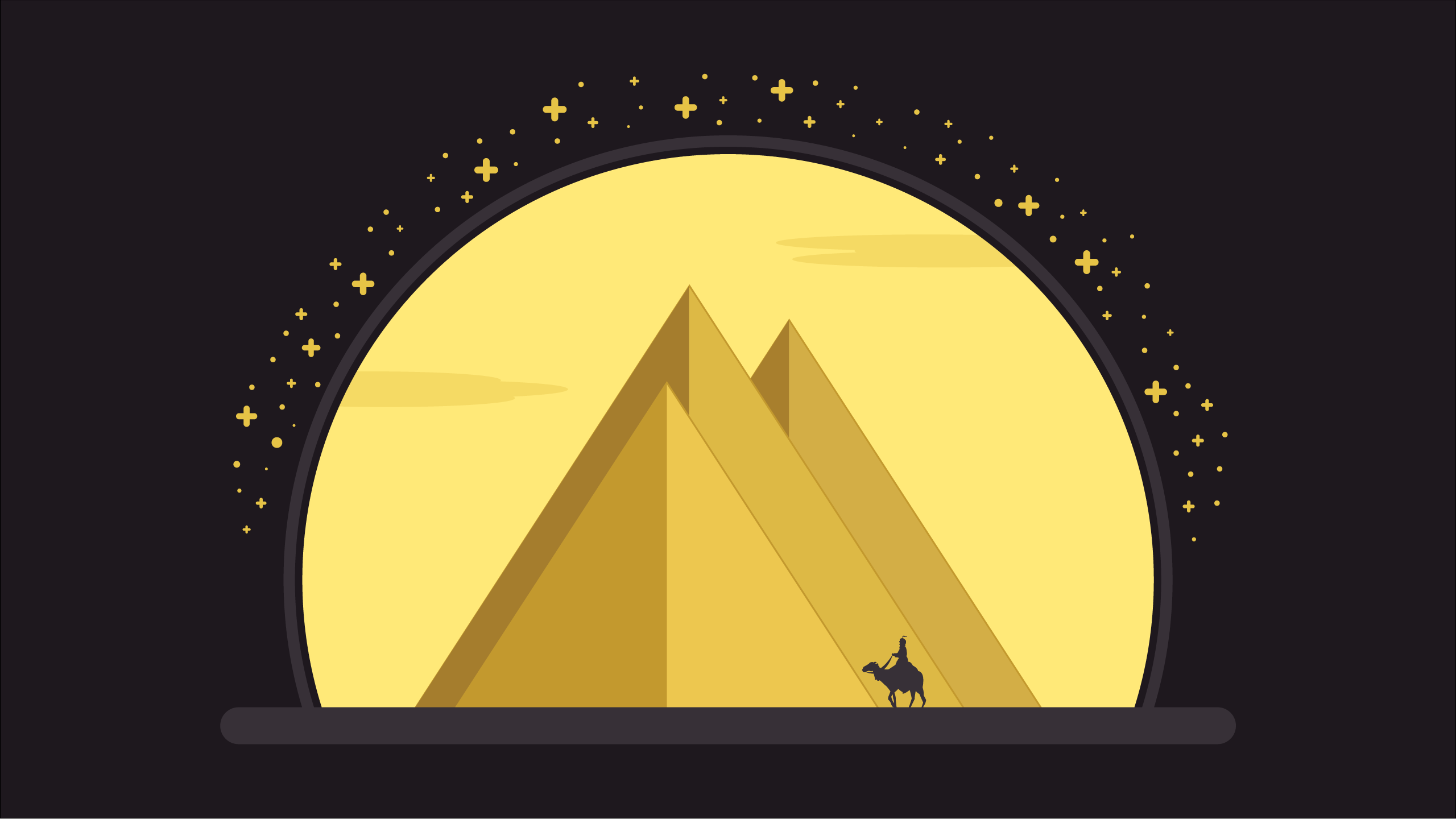Pirámides de Egipto Adobe Illustrator