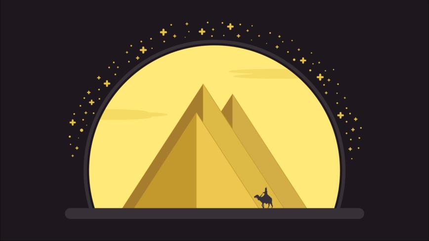 ⚡️ Cómo dibujar las pirámides de Egipto con Adobe Illustrator 🎨